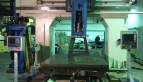 Henri Liné Vertamill 220HS/5 5 Axis CNC Gantry Type Double Column Travelling Table Milling Machine