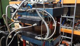 Moore 40 ton heated platen manually operated hydraulic press